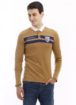 Polo manches longues maille homme