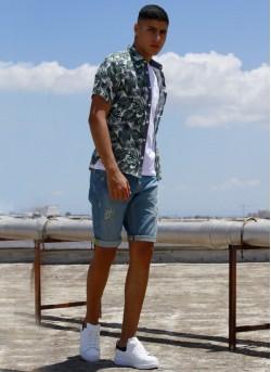 chemise imprimée tropical
