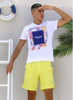 Tee-shirt homme avec sérigraphie
